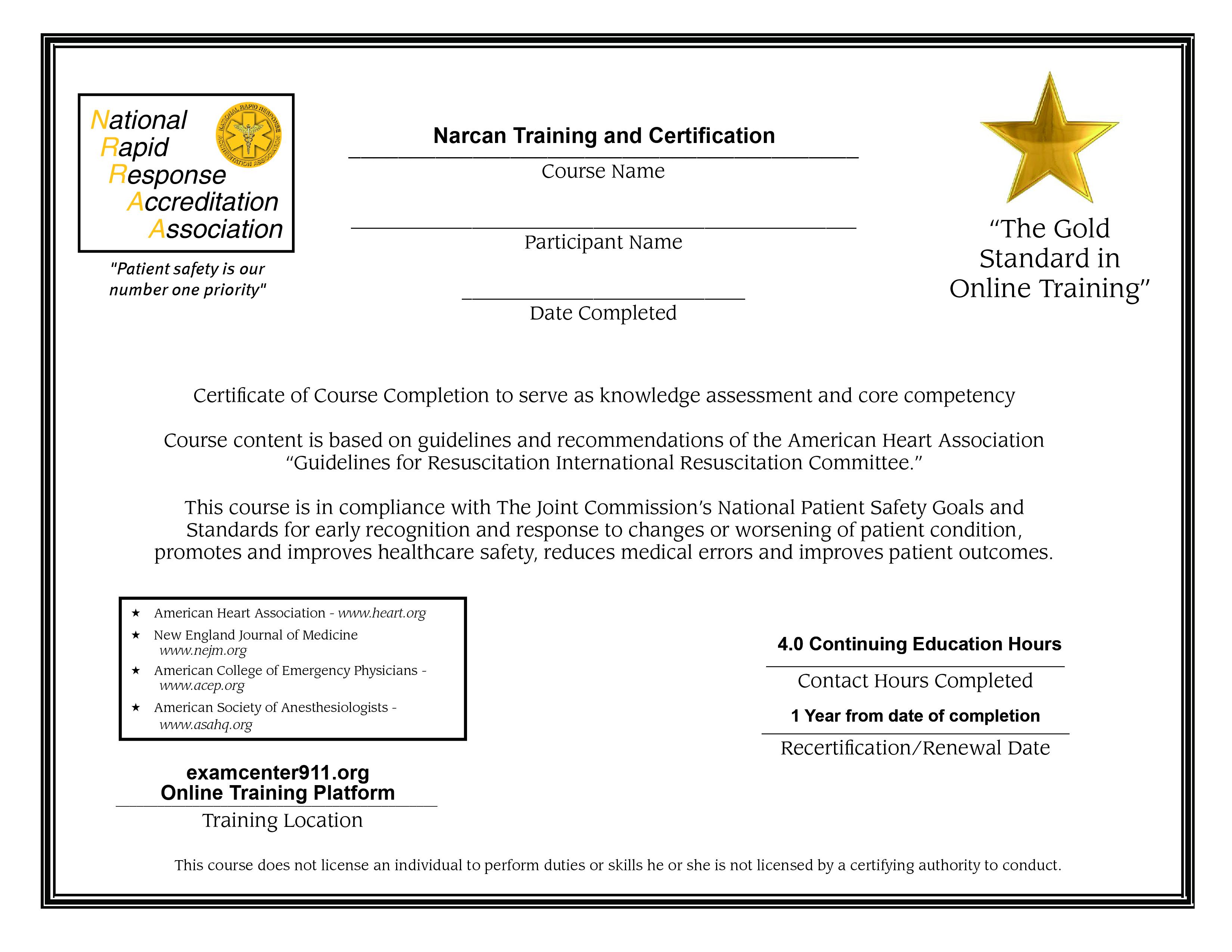 narcan u00ae certification